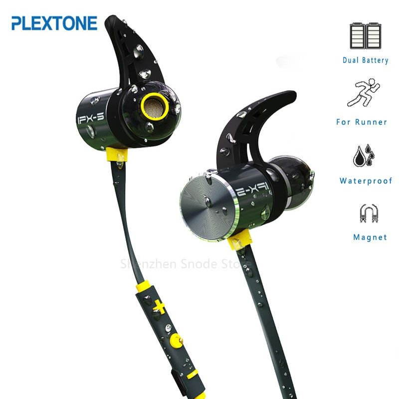 Dual Battery More Life Bx343 Wireless Bluetooth Headset Foldable headphones Stereo Audio IPX5 Water Earphone Oreillette With Mic