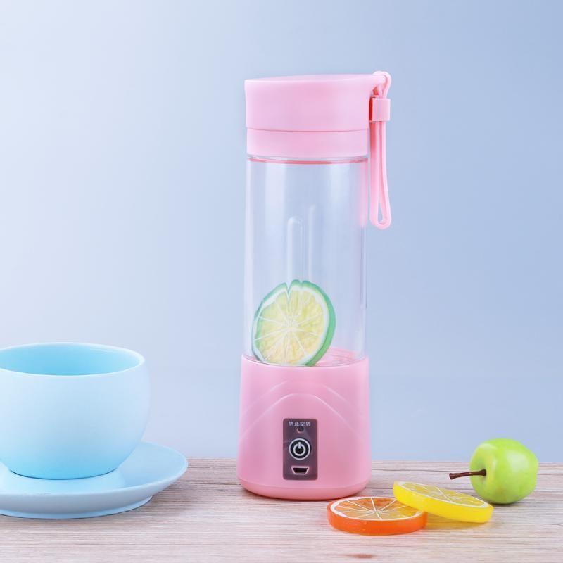 Mini Portable USB Electric Fruit Juicer <font><b>Machine</b></font> Rechargeable Smoothie Maker Blender Shake And Take Juice Slow Juicer 3 Colors