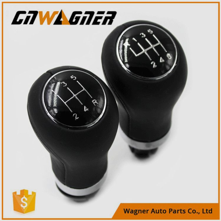 CNWAGNER 5/6 Speed Leather Gear Shift Knob for Audi A4 B6