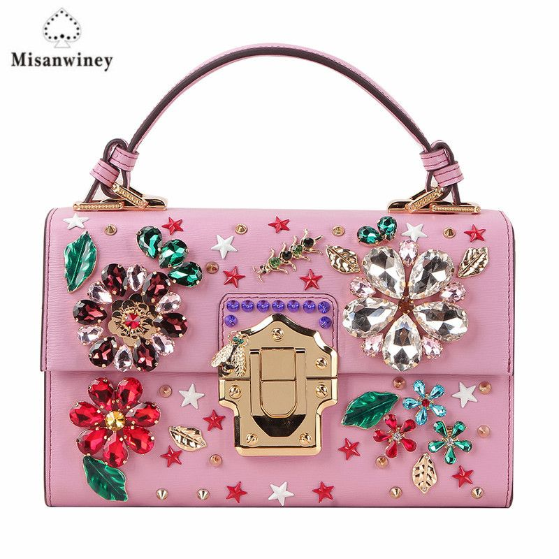 2017 luxury handbags women bags designer golden vintage gems evening clutch handbag handmade sequins flash diamond beaded