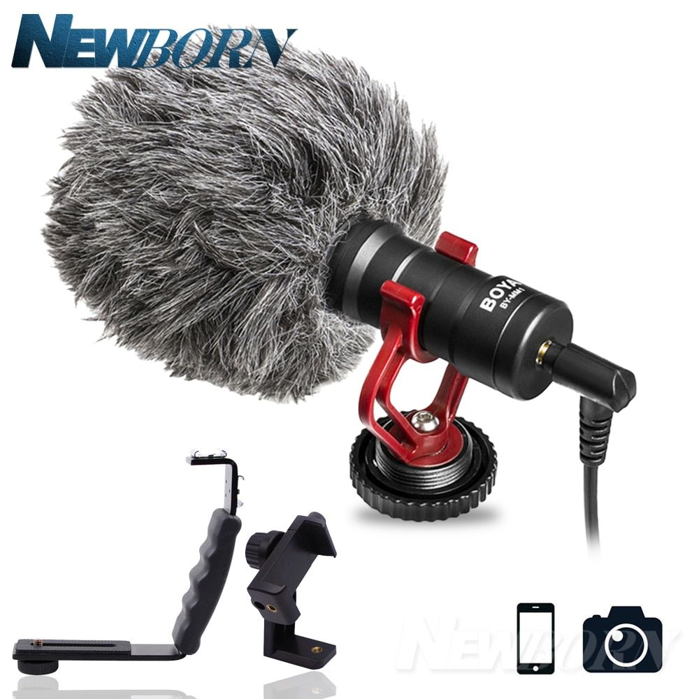 BOYA BY-MM1 Compact On-Camera Video Microphone Youtube Vlogging Recording Mic for iPhone Nikon Canon DSLR Smooth Q Feiyu Gimbal