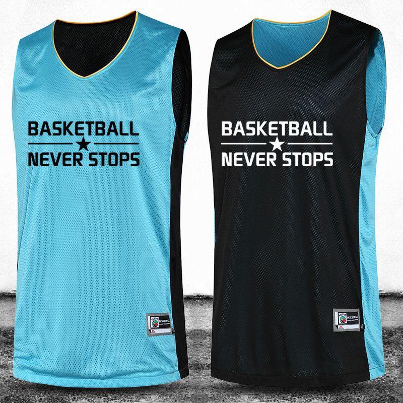 Hommes Réversible de Basket-Ball Jersey Double Face 2016 Grande Taille M-4XL Ensemble Haute Qualité Costume Shirt Personnalisé Uniforme Usure D'été