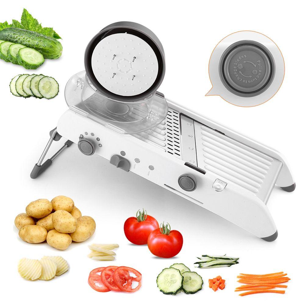 18 Types utilisent Mandoline légumes coupe déchiqueteuses en acier inoxydable trancheuse oignon pomme de terre coupe carotte râpe outils de cuisine