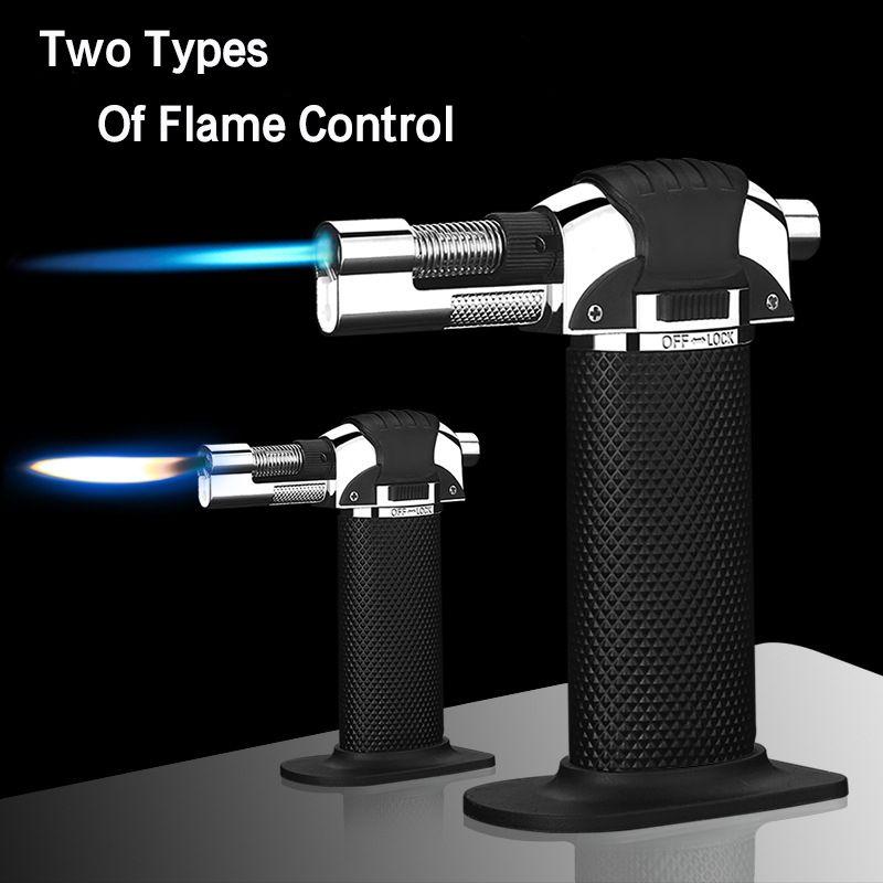 New Outdoor BBQ Torch Turbo Cigar Lighter Spray Gun Jet Butane Lighter For Kitchen 1300 C Fire Windproof Lighter No Gas