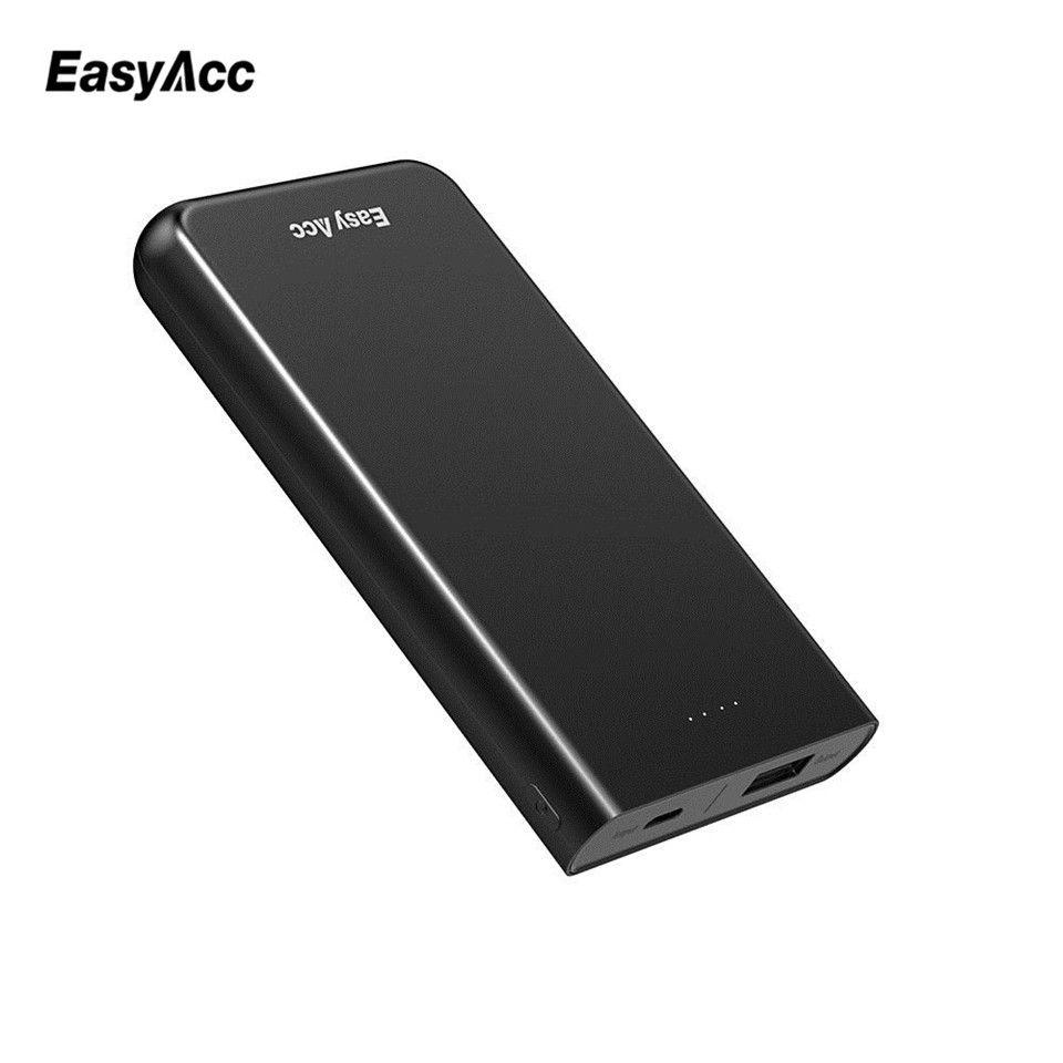 EasyAcc Ultra-Mince 10000 mah Power Bank Batterie Externe Mini Pouvoirs Chargeur Pour Iphone 6/6 s 5 /5S 4 4S Xiaomi Huawei Puissance Banque