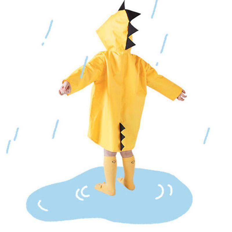 Cartoon Dinosaur Design Kids Raincoat Waterproof Kindergarten Students Rain Coat Poncho Cute Baby Boys Girls Rain-proof coat