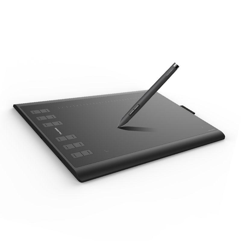 HUION Neue 1060 Plus 8192 Ebenen Grafiktabletts Digitale Zeichnung Tabletten Unterschrift Stift Tablet mit Film Geschenk