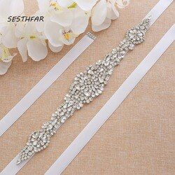 Rhinestone Belt Crystal Bridal Belt Sash handmade Diamond Delt Wedding Party Bride Belt For Dress Sash JY23FS In Stock