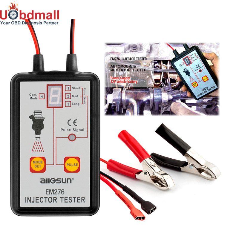 Original Allsun EM276 Car Fuel Injector System Analyzer & Fuel Injector Tester Fuel System Injector Scan Tool Universal