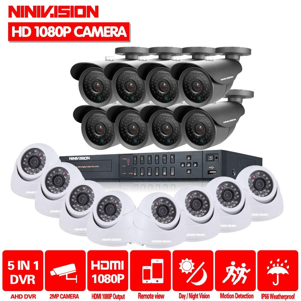 CCTV System 16CH HDMI 1080 p DVR Video CCTV System 16 stücke 2.0MP 3000TVL IR indoor outdoor Sicherheit Kamera Überwachung system