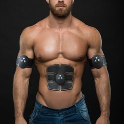 EMS беспроводной стимулятор мышц умный фитнес для мышц пресса тренировочное устройство электрожиросжигатель наклейки пояс для похудения ун...