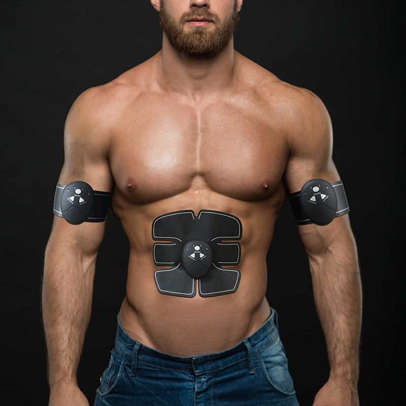 EMS Wireless Muscle Stimulator Smart Fitness Abdominal Training Device Electric Weight <font><b>Loss</b></font> Stickers Body Slimming Belt Unisex