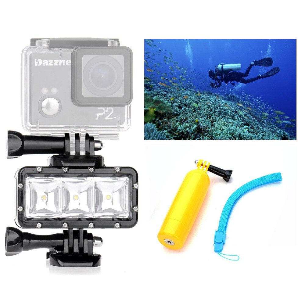 Orsda LED Flash Light Underwater Diving Waterproof Lamp LED Video Fill Light For GoPro hero3+SJCAM SJ4000 H9 H9R xiaomi Yi OR007