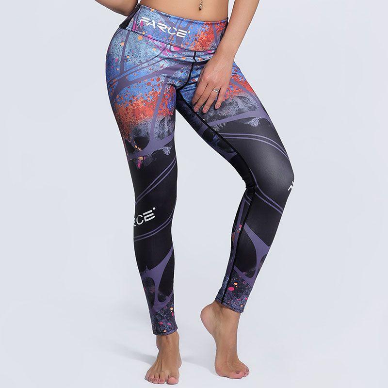 Top qualité fille Sexy femmes Cool élément populaire impression Leggings grande taille maigre entraînement Fitness Leggins Yogaing sport pantalon