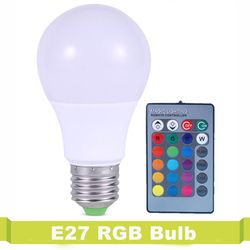 16 Colors Change LED Bulb Lampara Lamp Home Decoration 220V RGB LED Lamp E27 3W 5W 7W IR Remote Controller Colorful Lights Bulb