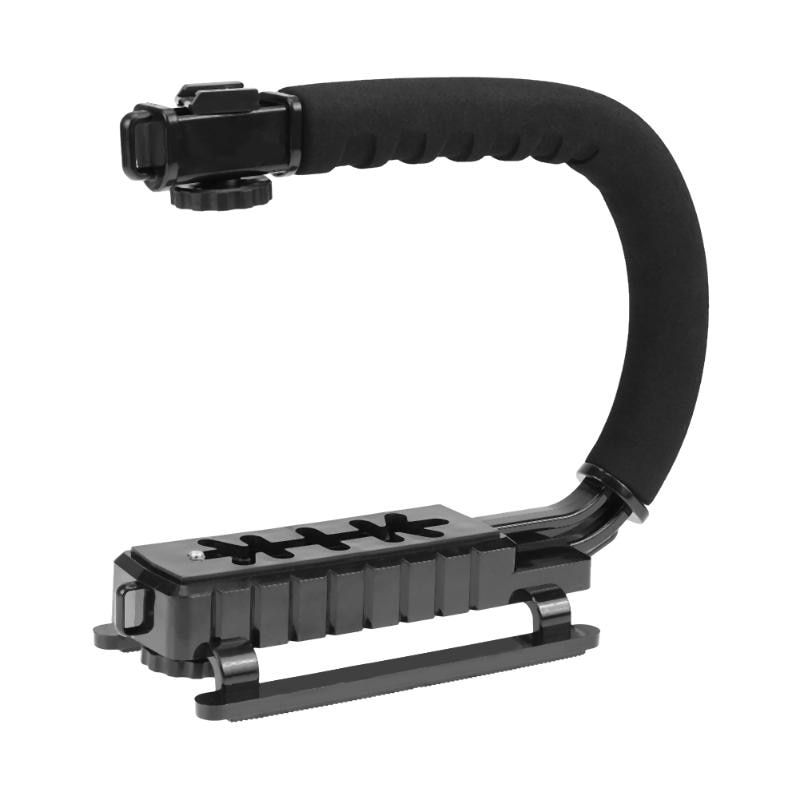 U-Grip Triple Shoe <font><b>Mount</b></font> Video Action Stabilizing Handle Grip Photography Accessory for Most Camera DV