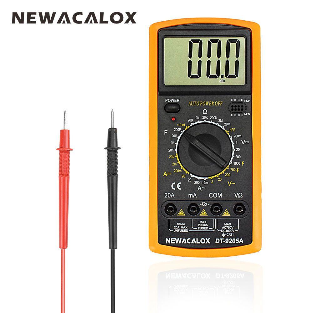 NEWACALOX Digital Multimeter <font><b>Multifunctional</b></font> LCD AC DC AMP Automatic Multimeter Ammeter Resistance Capacitance Meter Repair Tool