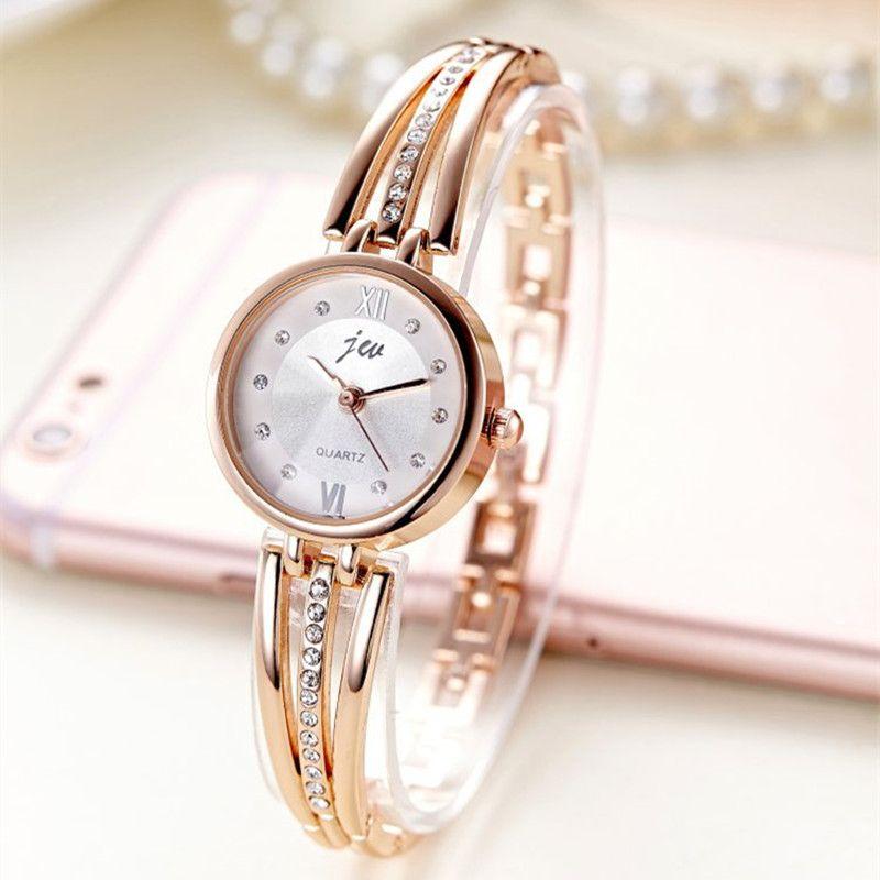 New Fashion Rhinestone Watches Women Luxury Brand Stainless Steel Bracelet watches Ladies Quartz Dress Watches reloj mujer Clock