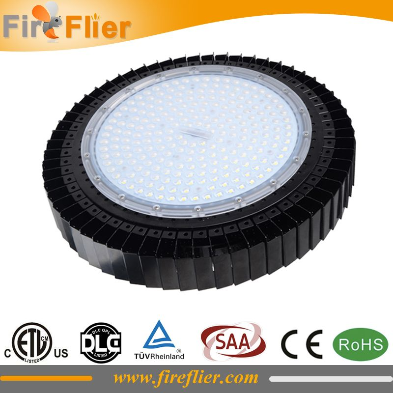 8pcs/lot UL DLC CE CB listed ufo industrial light 150w led highbay SMD 200w warehouse lamp ufo 100w 120w dimmable factory led60W