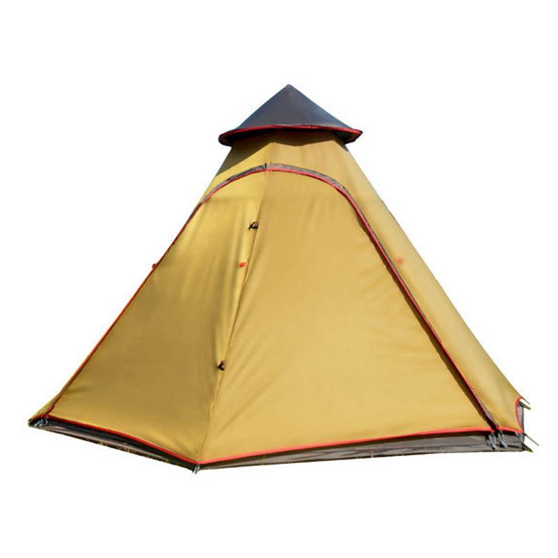 Außen Mongolischen Jurte Zelt Wasserdicht Double Layer 6 Ecke Indianerzelt Zelte für Camping Zelt 5 Personen