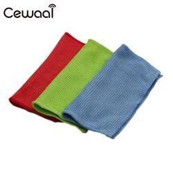 Cewaal 10pcs Glasses Eyeglass Lens Cellphone Screen Fiber 13 * 13 cm Cotton Cleaning Wipe Cleanse Cloth