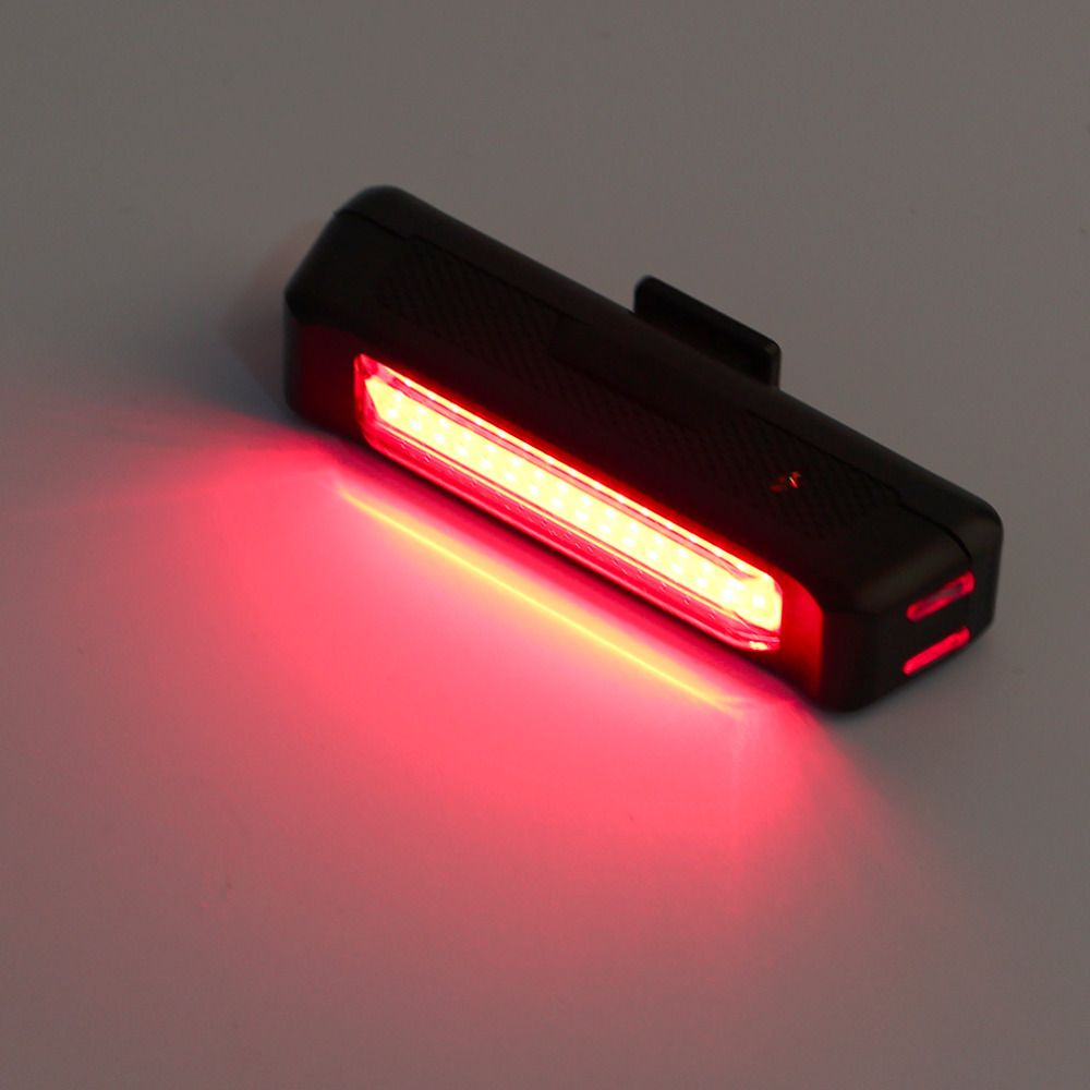 USB Rechargeable Bike Bicycle Light Rear Back Safety Tail Light Red New free shipping free shhipping
