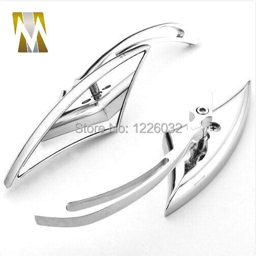 CHROME BLADE ALUMINUM CUSTOM MIRRORS FOR HARLEY MOTORCYCLE CRUISER CHOPPER REARVIEW MIRROR
