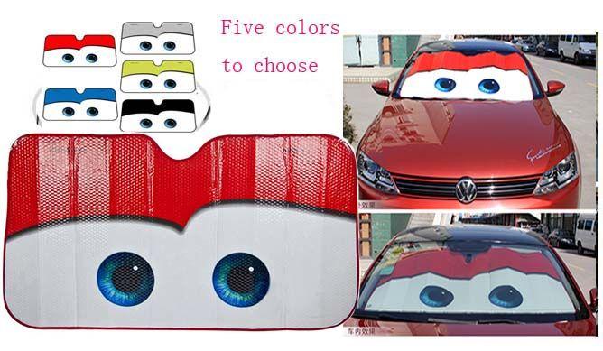 5 Colors Eyes Heated <font><b>Windshield</b></font> Sunshade Car Window Windscreen Cover Sun Shade Auto Sun Visor Car-covers