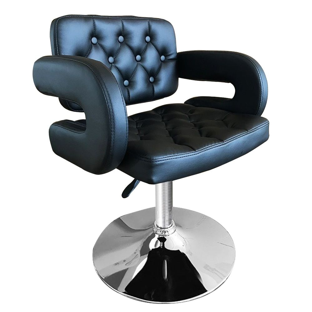 Black/White Leather Barber Chair Styling Salon Beauty Equipment for home furniture Shellhard