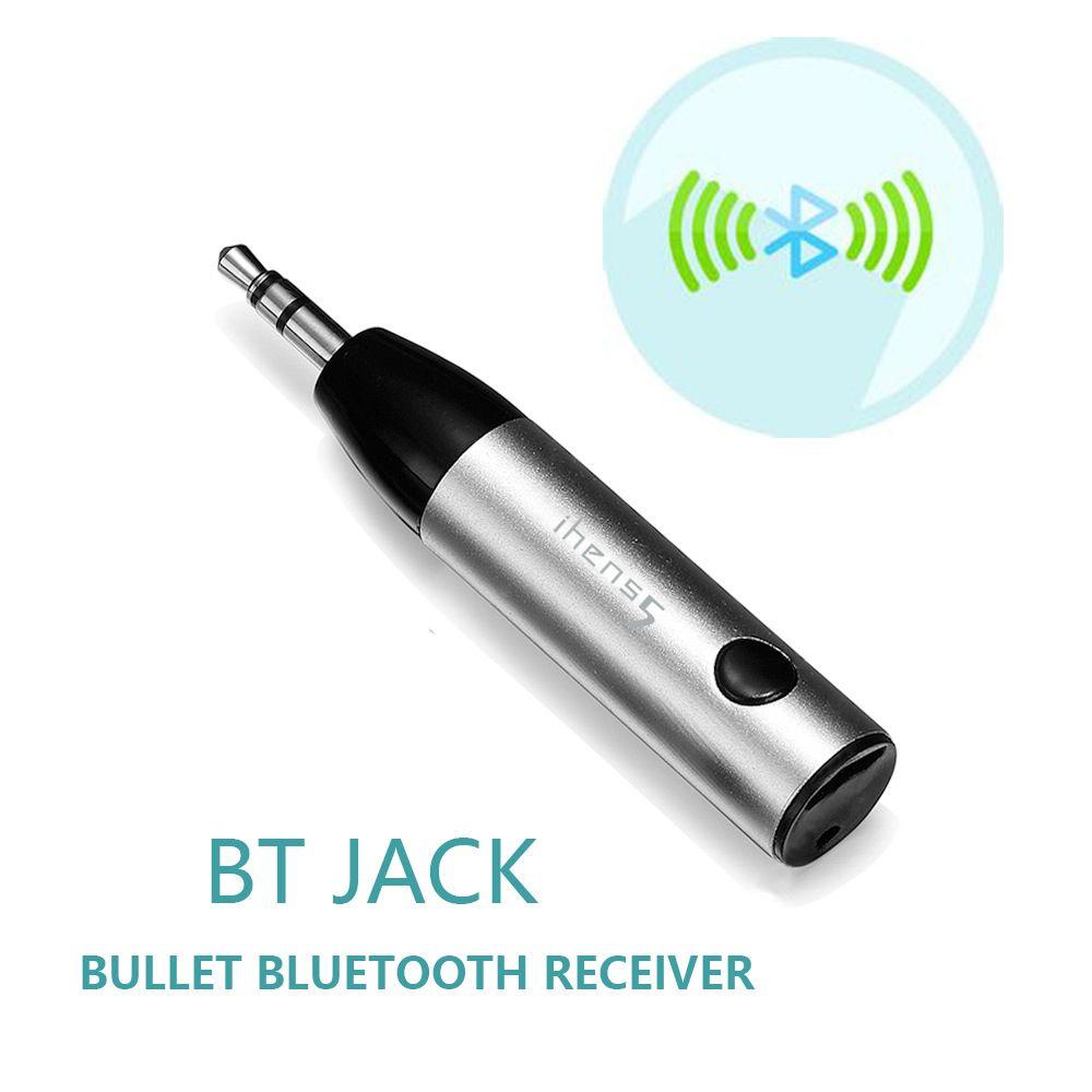 Ihens5 Mini Kit de voiture sans fil Bluetooth mains libres 3.5mm Jack Bluetooth AUX adaptateur récepteur Audio avec micro pour haut-parleur téléphone