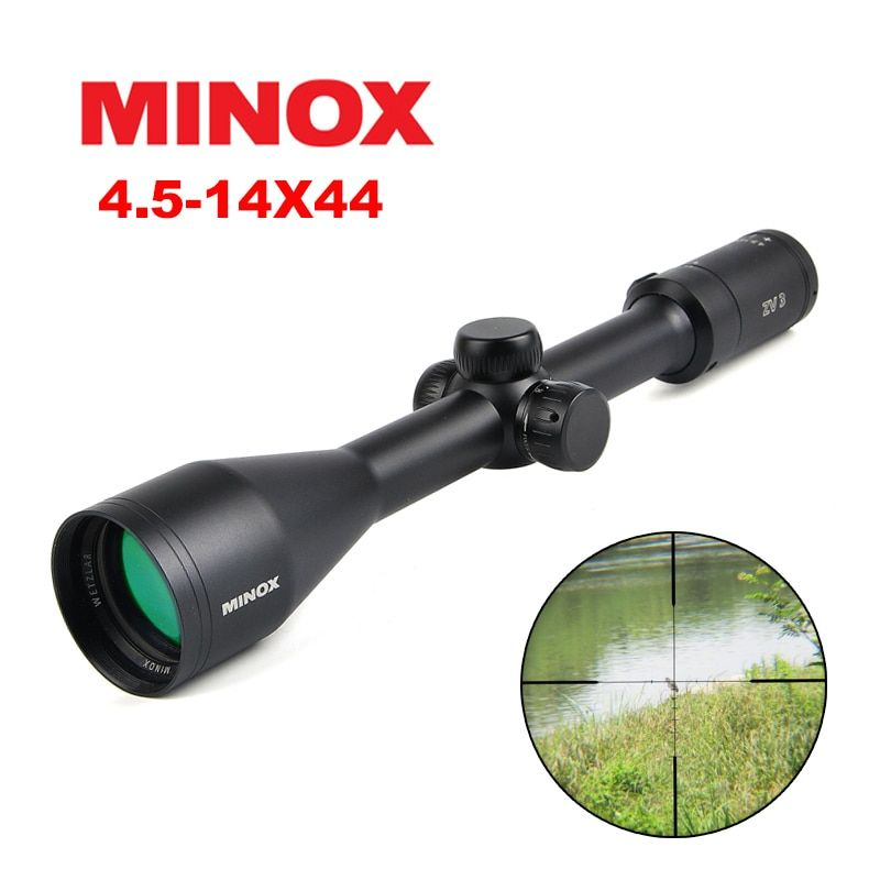 Minox 4.5-14x44 SF Tactical Scope Riflescopes Long Eye Relief Rifle Scope Sniper Gear Hunting Scope Rifle Free Scope Mounts
