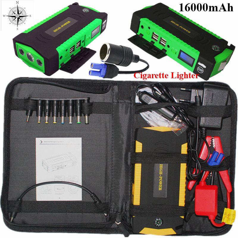 Mini <font><b>Starting</b></font> Device 16000mAh Car Jump Starter 12V 600A Portable Auto Starter Power Bank Car Charger For Car Battery Booster LED