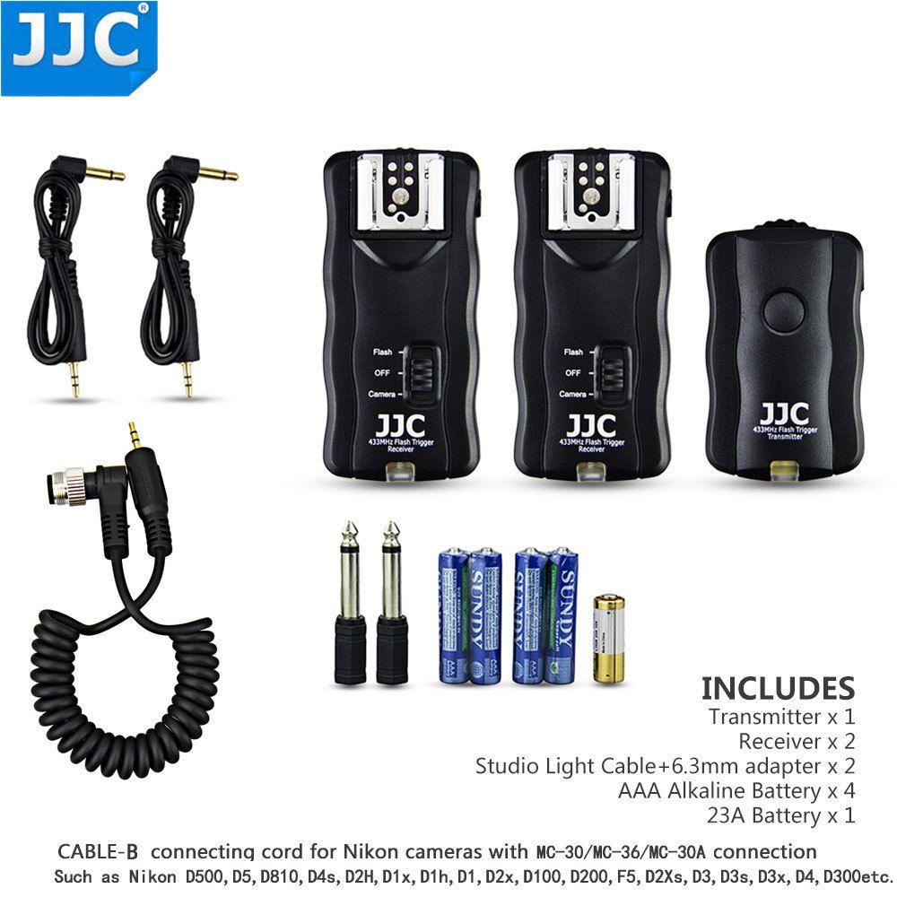 JJC Wireless Flash Trigger Remote Shutter Release for Nikon D500 D5 D810 D4s D2H D1x D1h D2x D2Xs D3 D3s D3x D4 D300s D700 D800