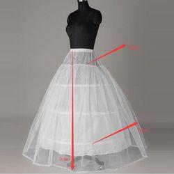 Dalam Stok penjualan Panas Harga Murah Putih 3 Hoop Rok Untuk Wedding Bridal Gown Dress Underskirt Crinoline Pernikahan Aksesoris 2018