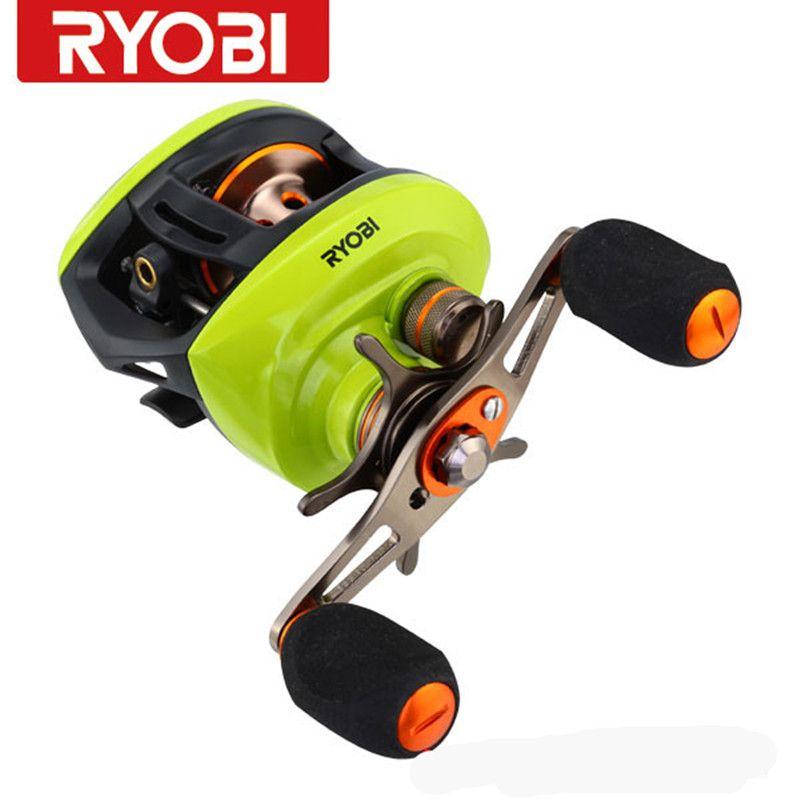 Free Shipping RYOBI Baitcasting Reel (L/R) 8+1BB Fishing Reel AQUILA(z) Gear Ration 6.3:1 Carp Fishing Reel Carretilha Pesca