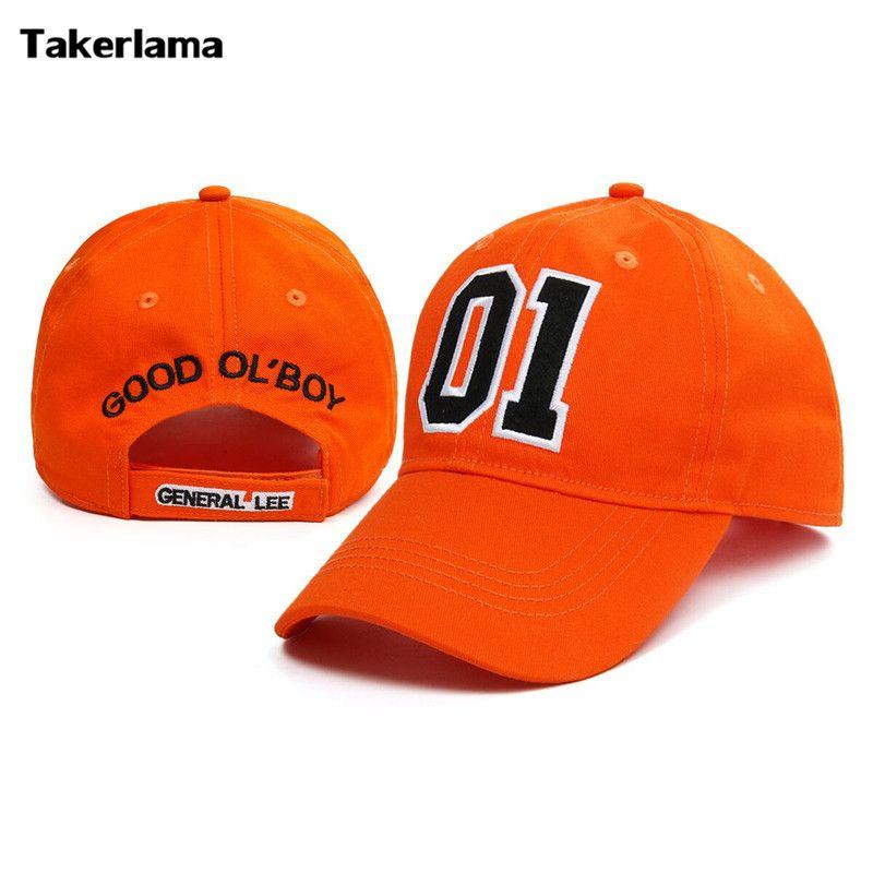 Takerlama nouveau général Lee 01 brodé coton sergé casquette chapeau ducs de Hazzard bon vieux garçon unisexe adulte Applique chapeau de Baseball
