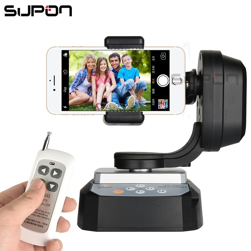 SUPON YT-500 Smart Go Pro Panoramic PTZ Pan Title Wireless Remote Control for Phone SLR camera Web Webcast Cam Baby