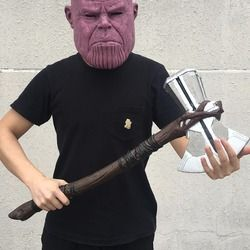 Thor Stormbreaker Kapak Avengers Infinity War Cosplay Superhero Thor Kapak 2018 Avengers 3 Senjata Pesta Halloween Alat Peraga Dropshipping