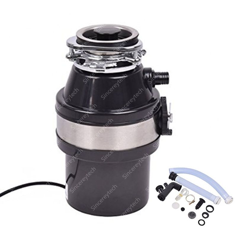 Food Waste Disposer With Air <font><b>Switch</b></font> 900ml Extra Capacity High-sensitivity Protection System For Kitchen
