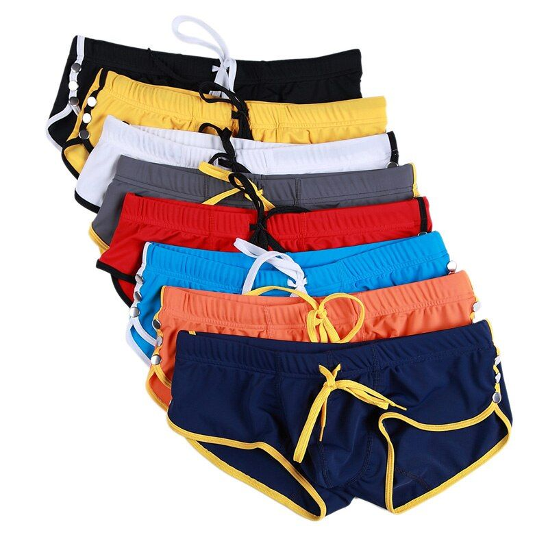 2018 neuen männer Badehose Männer Badeanzüge Surf Board Strand Tragen mann Badehose Boxer Shorts Schwimmen Anzüge Homosexuell Plus größe XL