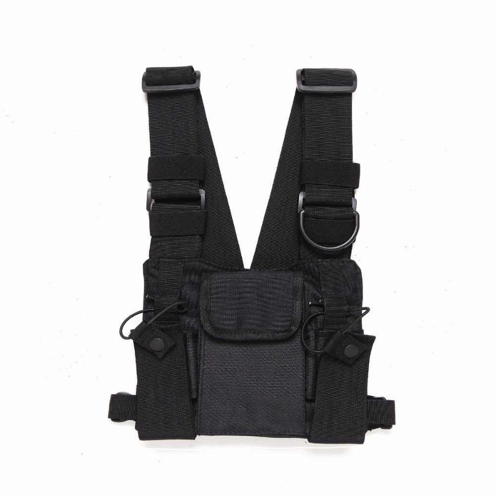 Abbree Radio Chest Harness Chest Front Pack Pouch Holster Vest Rig Chest Bag for Walkie Talkie Motorola Baofeng TYT Wouxun