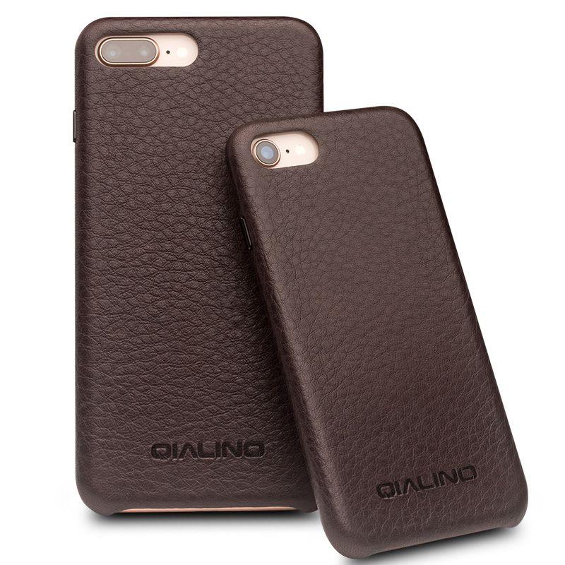 QIALINO Echtem Leder Luxus Zurück Fall für iPhone 8 Handarbeit Extrem dünne Mode Telefonabdeckung für iPhone 8 plus für 4,7/5,5 zoll
