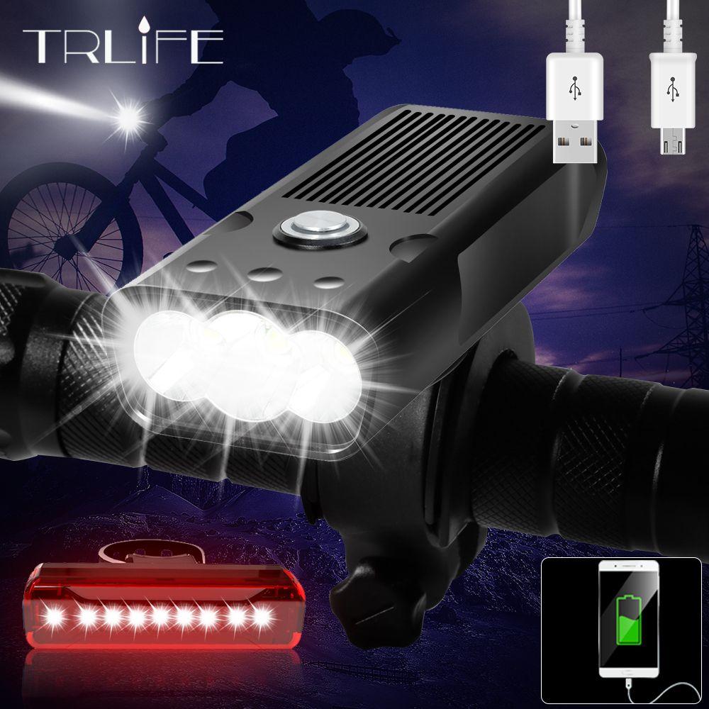 20000Lums Fahrrad Licht L2/T6 USB Aufladbare 5200mAh Bike Licht IPX6 Wasserdicht LED Scheinwerfer wie Power Bank fahrrad Zubehör