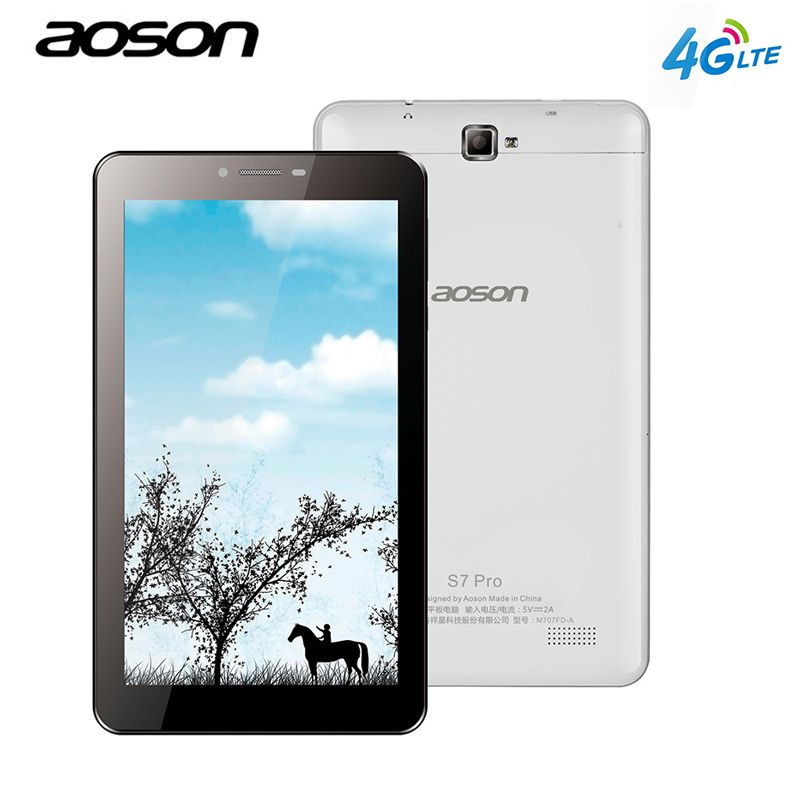 Aoson Phone Call tablets PC S7 PRO 7 inch 4G LTE-FDD 1GB 8GB HD IPS Android 6.0 phablet Quad Core Dual Cam Dual SIM wifi GPS