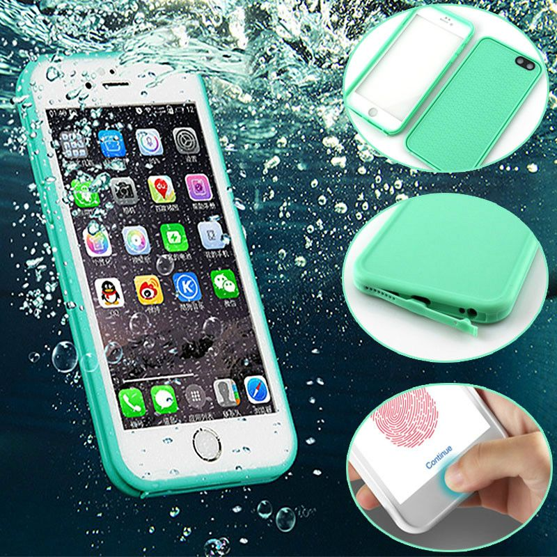 Luxury 360 WaterProof Case For Iphone 6 6s 8 Plus 5 5S 5SE X TPU+PC Waterproof Screen Touch Phone Cover for iphone 7 7Plus