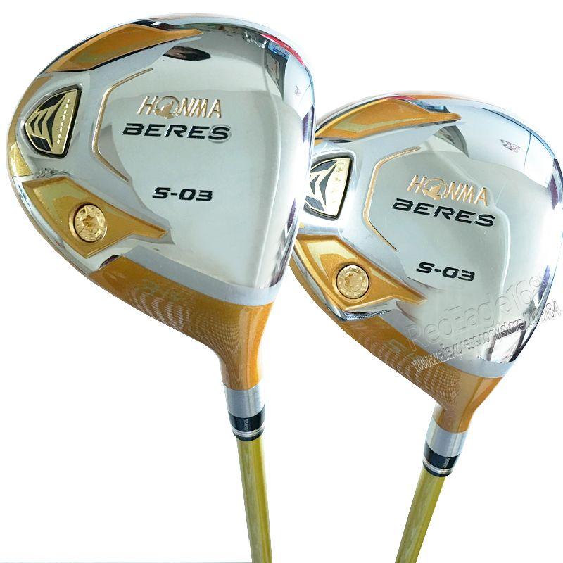 Cooyute neue mens golf clubs honma s-03 4 sterne 3/15 5/18 Golf fairway holz mit Graphit golfschaft holz clubs kostenloser versand