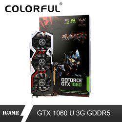 Красочная видеокарта iGame GTX1060 U Top 3g Nvidia Boost 1708 MHz 192Bit GDDR5 PCI-E 3,0 GTX 1060 игровые карты
