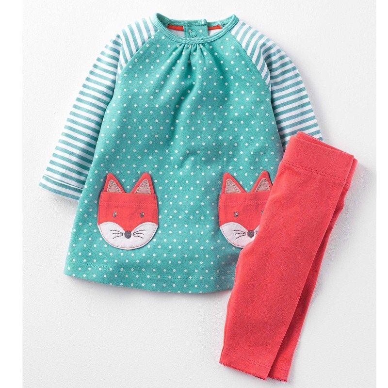 Baby Girls Clothes <font><b>Children</b></font> Clothing Sets 2017 Brand Kids Tracksuits for Girls Sets Animal Pattern Baby Girl School Outfits