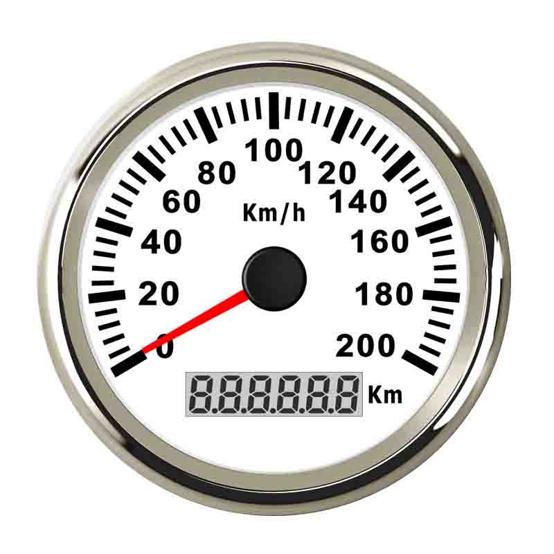 85mm Marine Boat GPS Speedometer Gauge 200km/h Speed Meter For Car Truck Motorcycle Auto With Backlight 9~32V