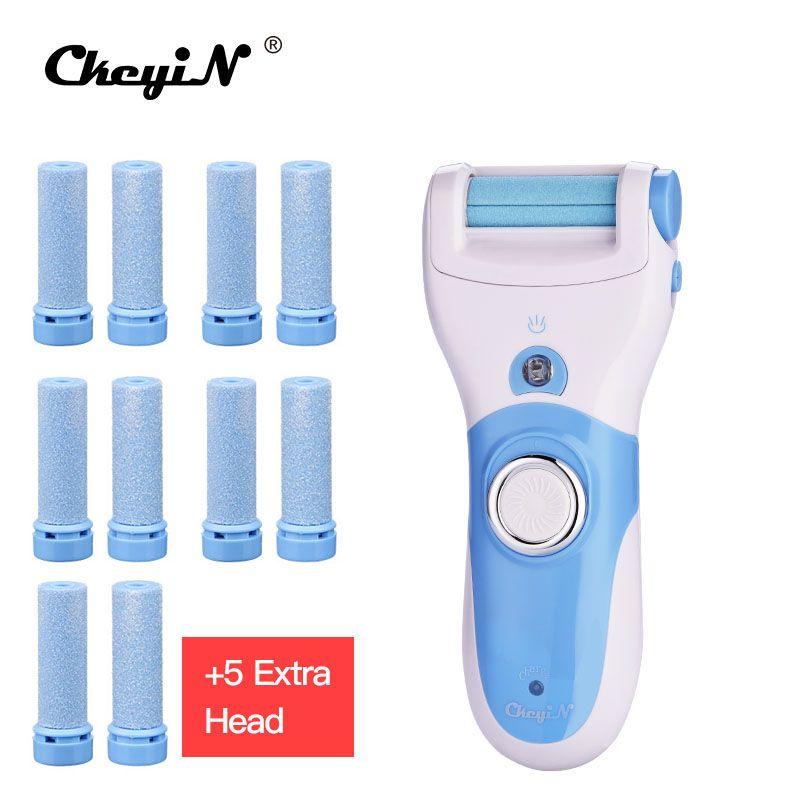 Vente chaude soins des pieds mort dur peau enlèvement talons jambe pédicure Peeling Machine gommage exfoliateur avec LED Rechargeable-S42